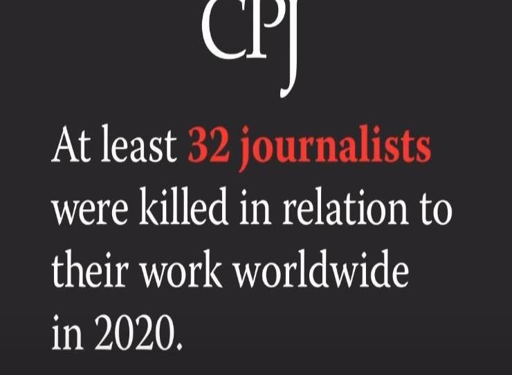 Periodistas asesinados por su trabajo en 2020