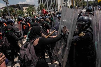 Violaciones a la libertad de expresión en marchas feministas